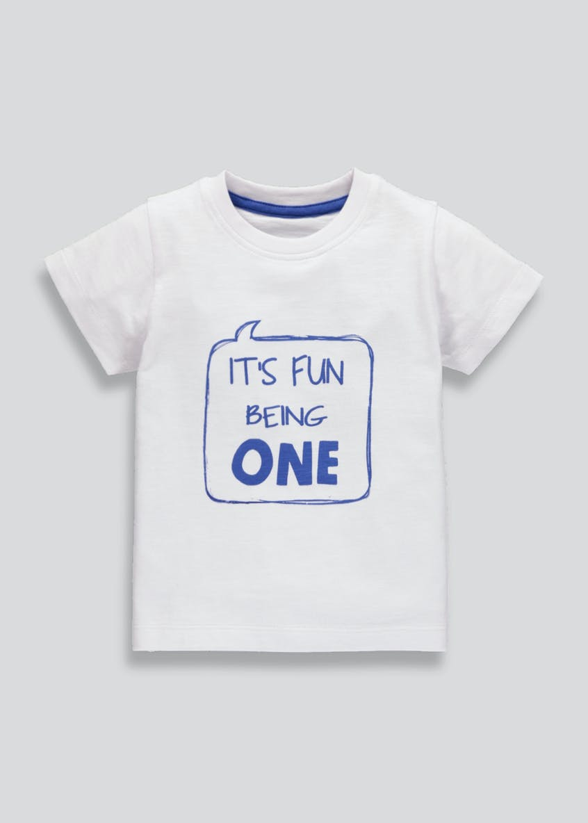 Boys One Slogan T-Shirt (1yr)
