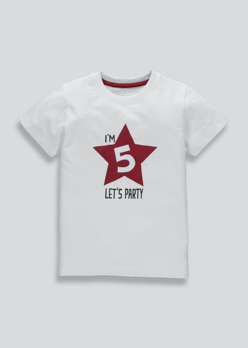 Boys Five Slogan T-Shirt (5yrs)