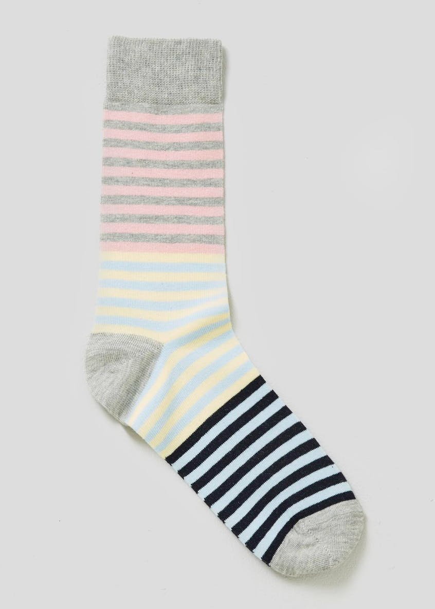 Colourblock Stripe Socks