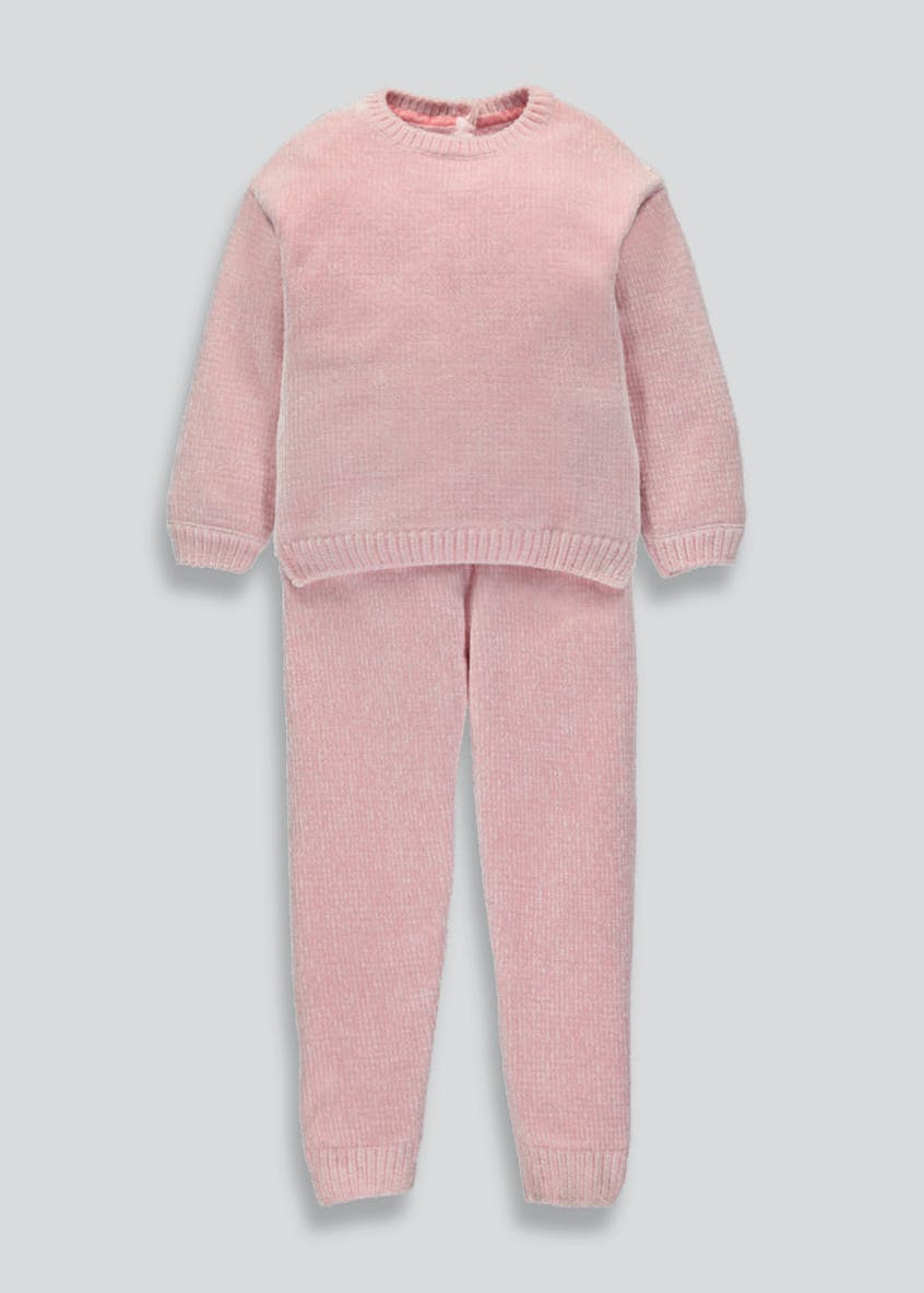 Girls 2 Piece Chenille Set (3mths-6yrs)