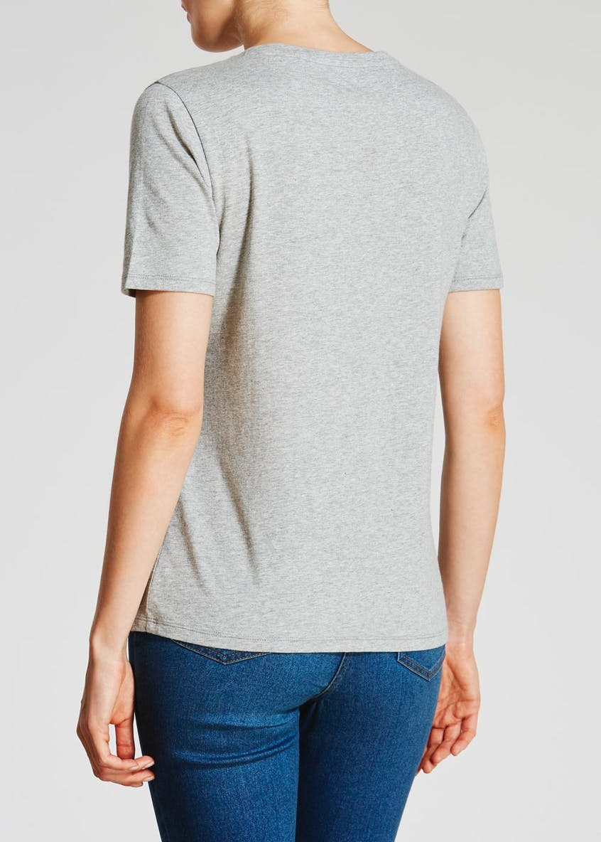 Embroidered Yoke T-Shirt