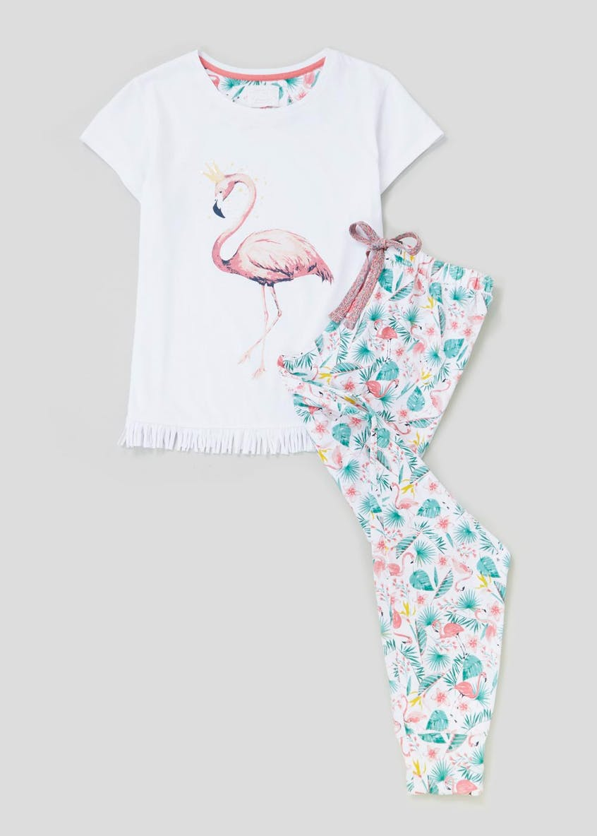 Flamingo Fringe Pyjama Set
