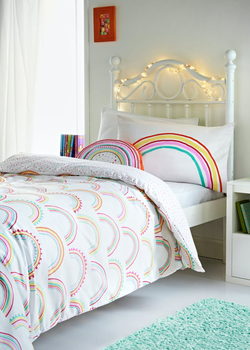 Toddler 100% Cotton Rainbow Duvet Cover