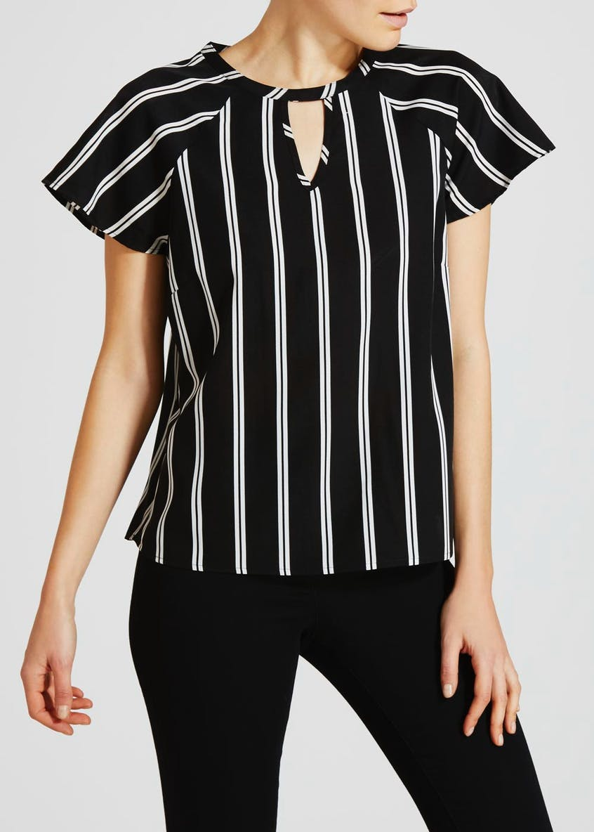 Stripe Choker Blouse