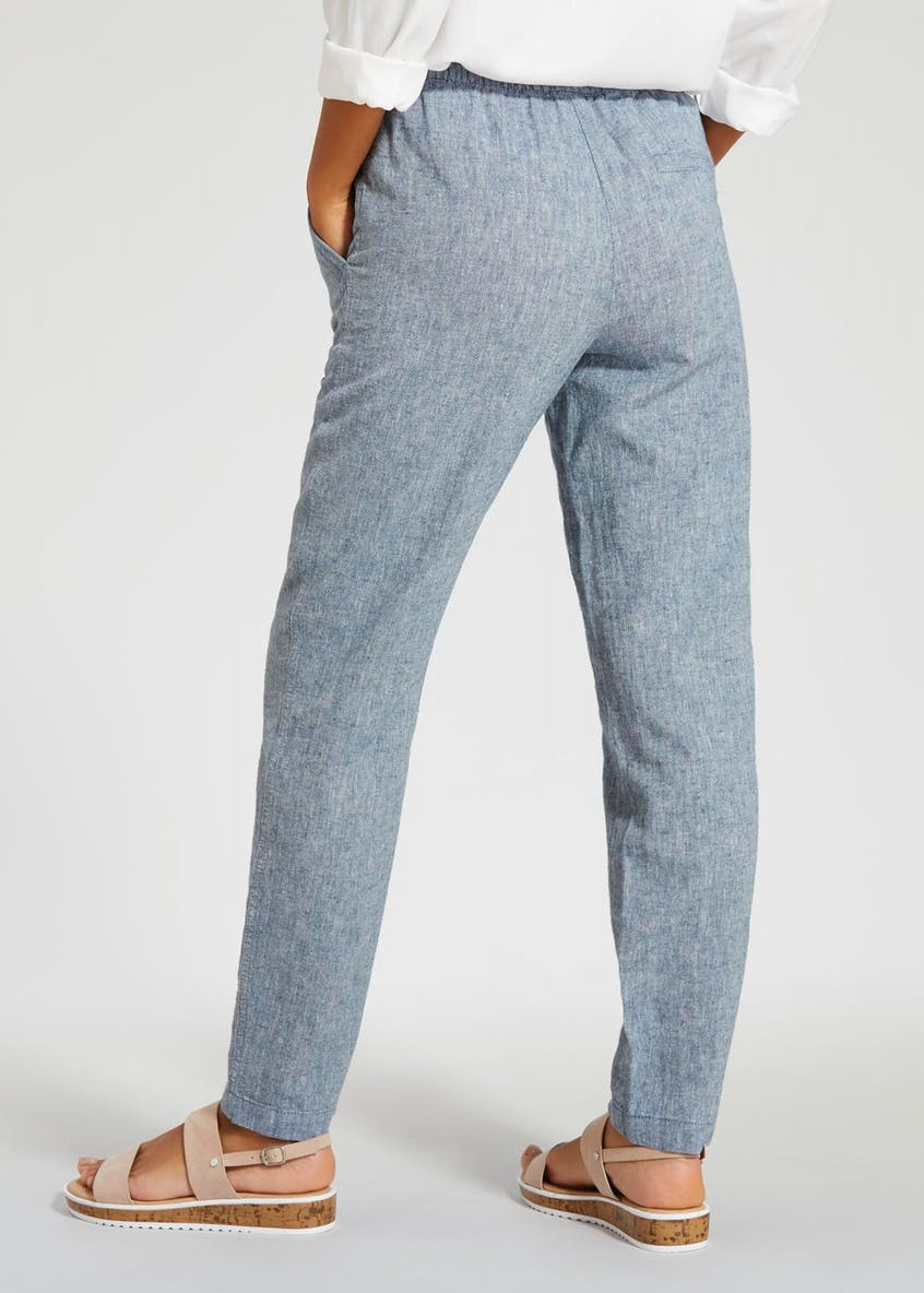 Belted Linen Trousers