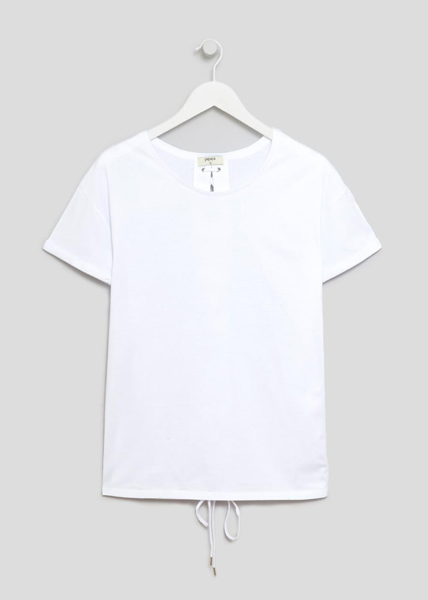 Lattice Back Longline T-Shirt