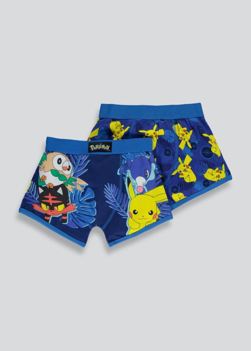 Boys Pokemon 2 Pack Trunks (4-11yrs)