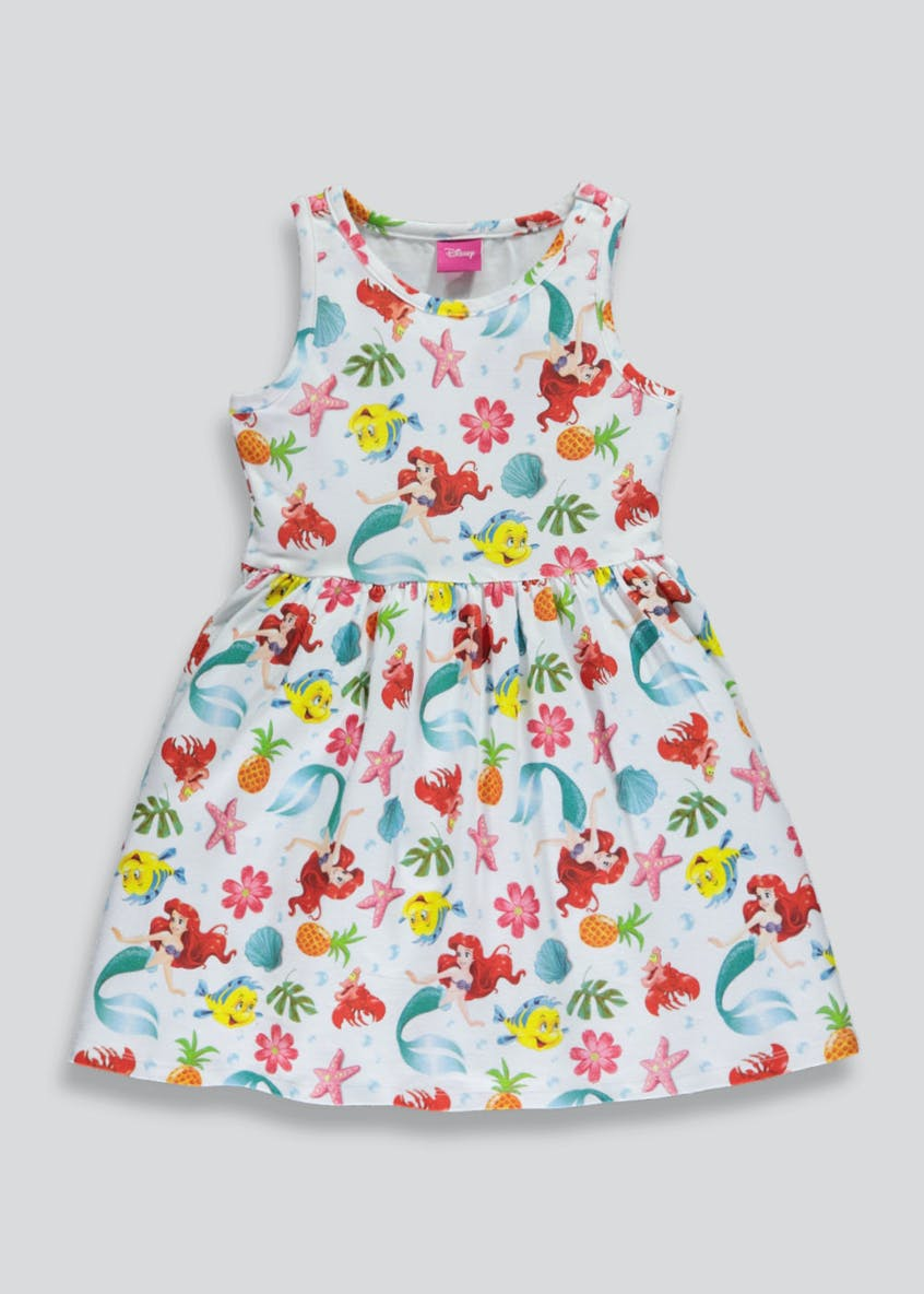 Kids Disney Ariel Print Dress (2-9yrs)