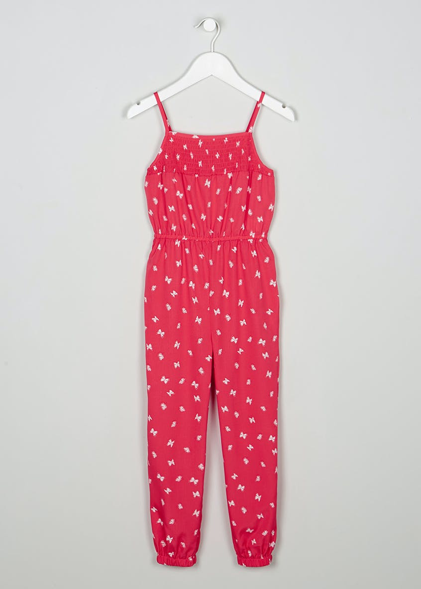 Girls Butterfly Print Jumpsuit (4-13yrs)