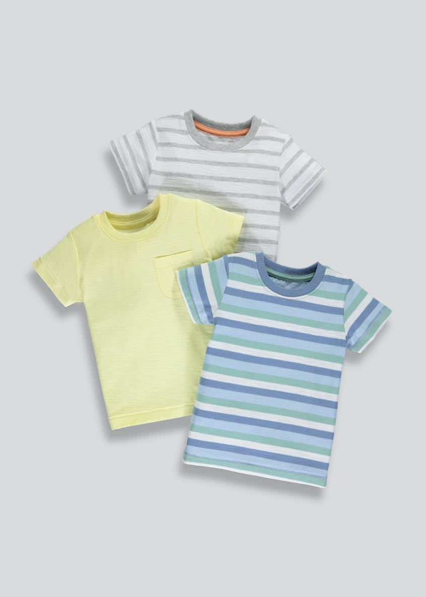 Boys 3 Pack T-Shirts (3mths-6yrs)