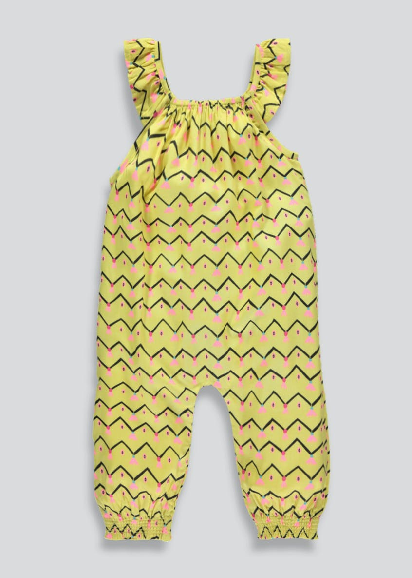 Girls Bird & Fruit Print Jumpsuit (3mths-6yrs)