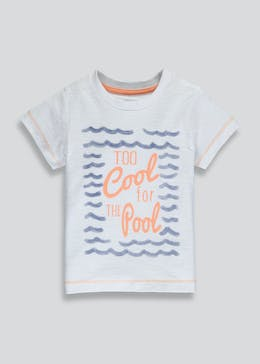 Boys Too Cool For the Pool Slogan T-Shirt (3mths-6yrs)