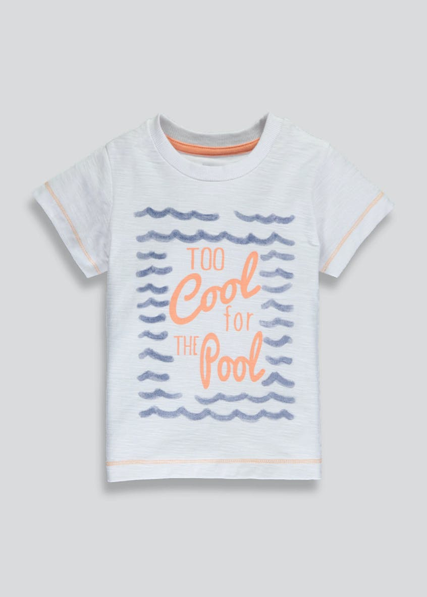 Kids Too Cool For the Pool Slogan T-Shirt (3mths-6yrs)