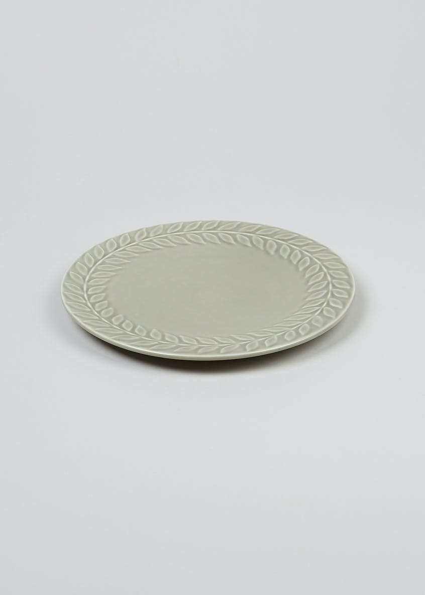 Embossed Leaf Print Side Plate (23cm)