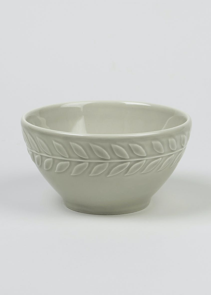 Embossed Leaf Print Bowl (15cm x 9cm)