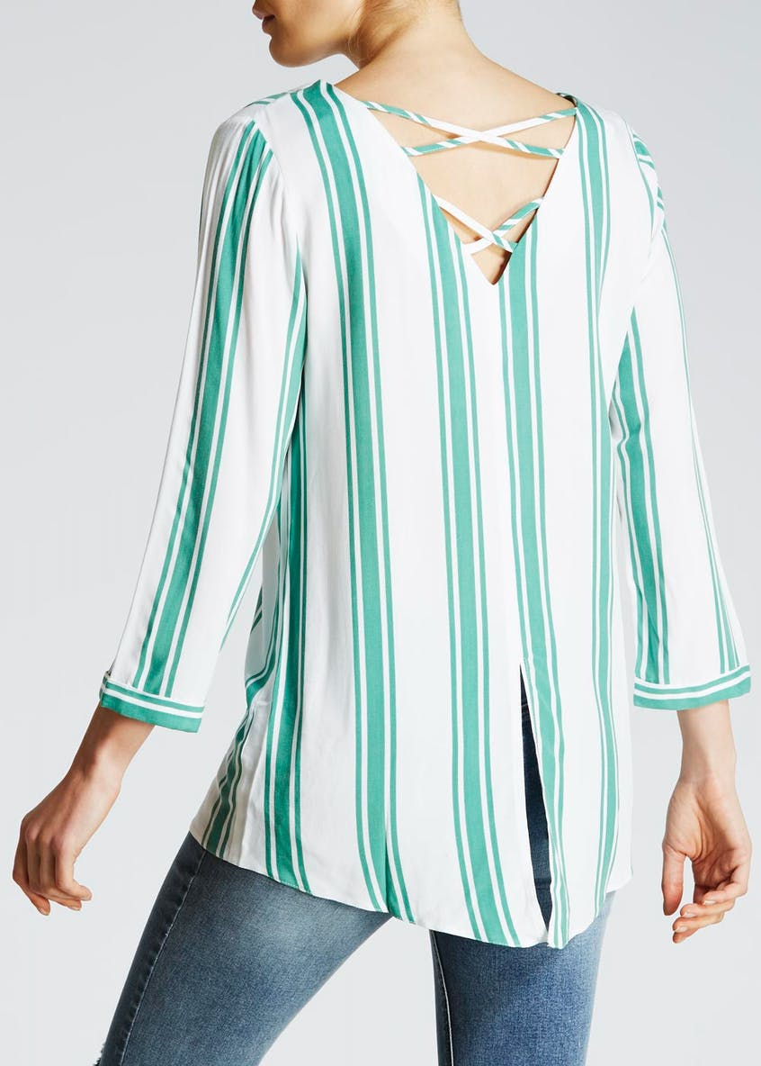 Stripe Cross Back Shirt