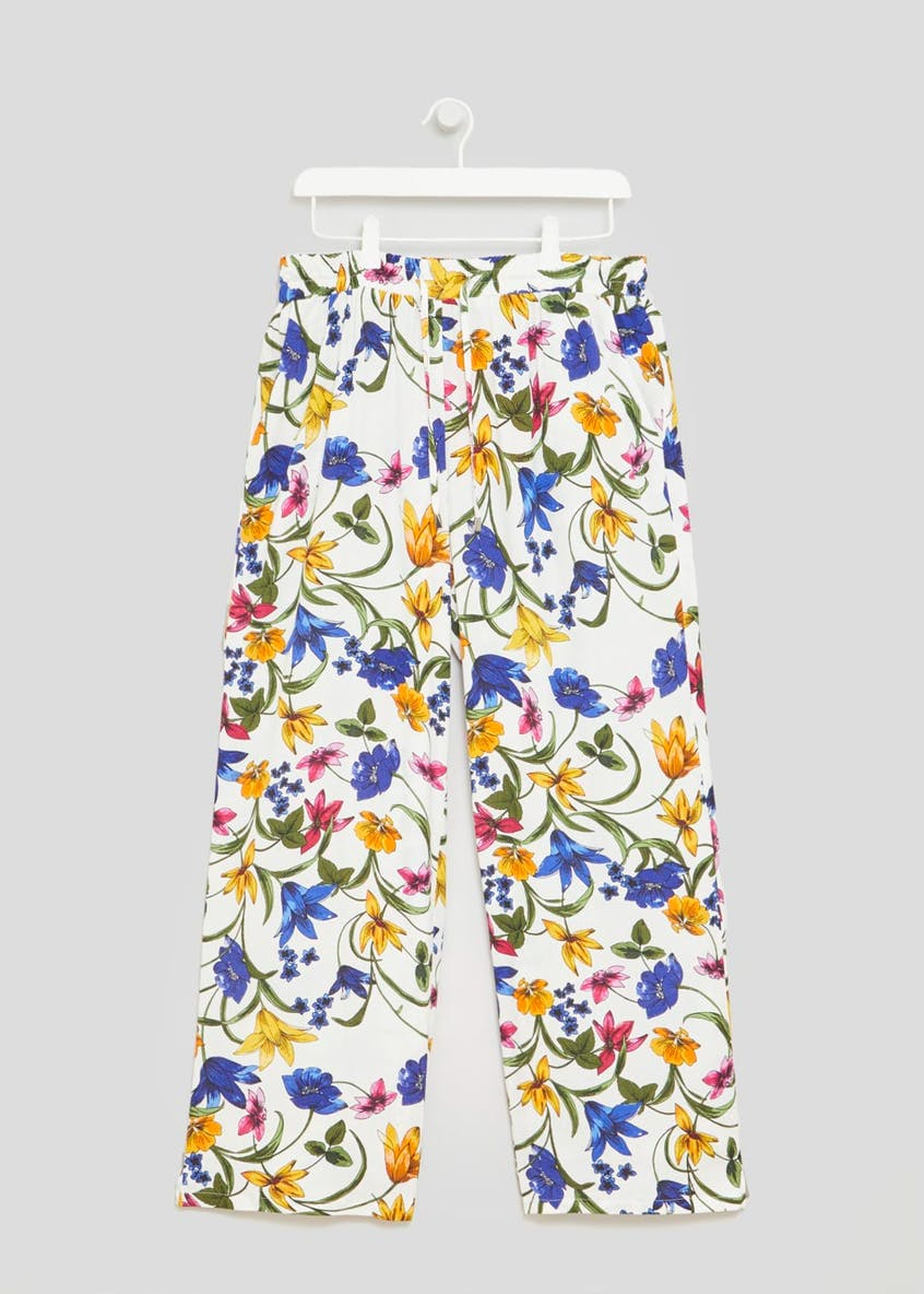 Soon St Lucia Floral Wide Leg Palazzo Trousers