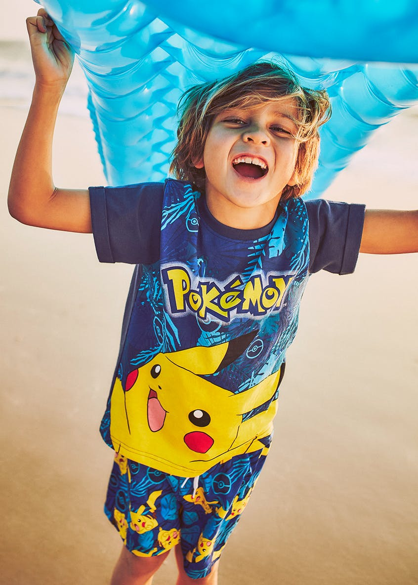 Kids Pokémon Pikachu Swim Shorts (5-12yrs)