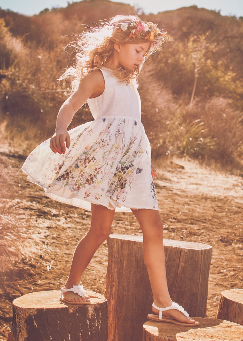 Girls Floral Dress (4-13yrs)