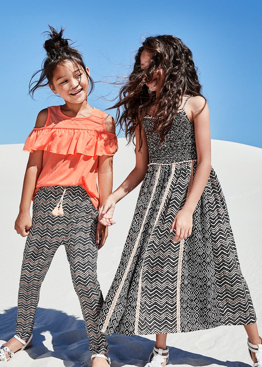 Girls Aztec Print Maxi Dress (4-13yrs)