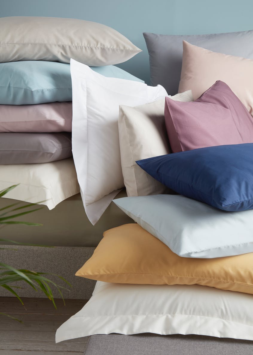 100% Cotton Percale Housewife Pillowcases (200 Thread Count)