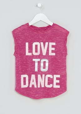Girls Souluxe Dance Slogan Sports T-Shirt (4-13yrs)