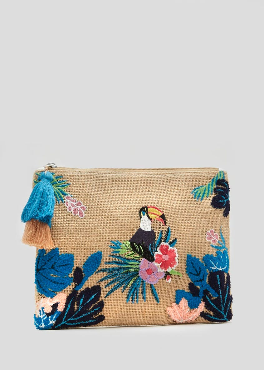 Tropical Toucan Canvas Clutch