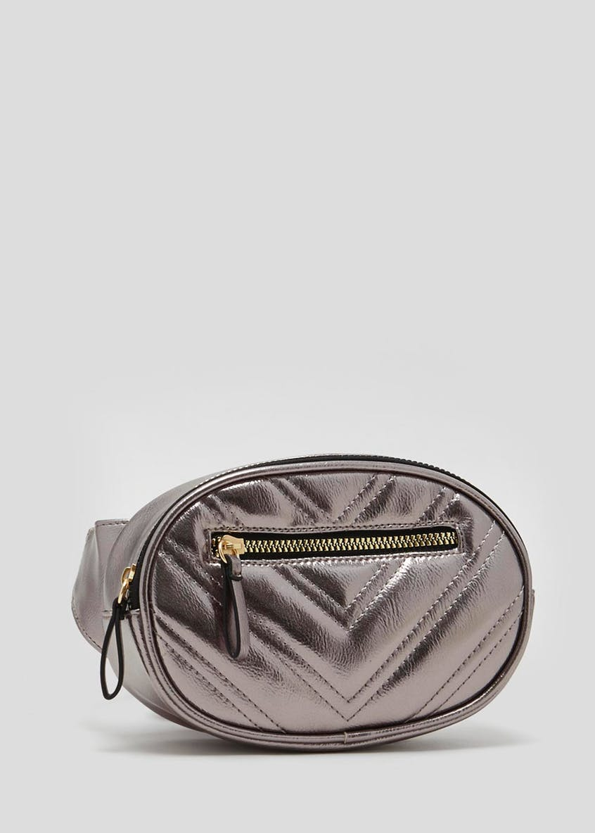 Metallic Quilted Bum Bag