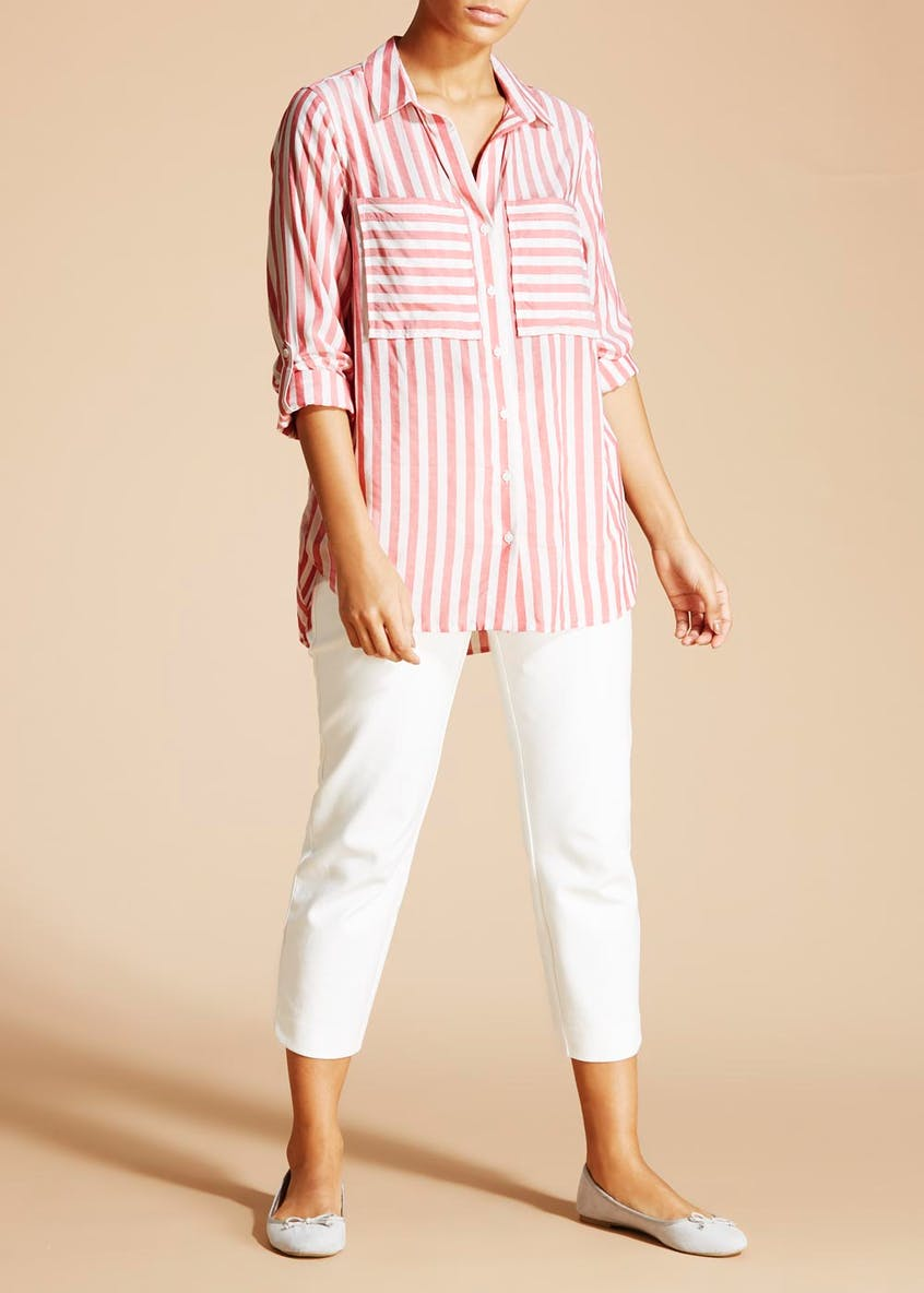 Soon Viscose Stripe Shirt