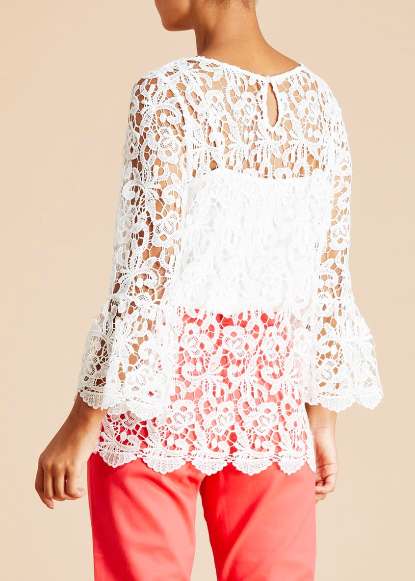 Soon Lace Bell Sleeve Top