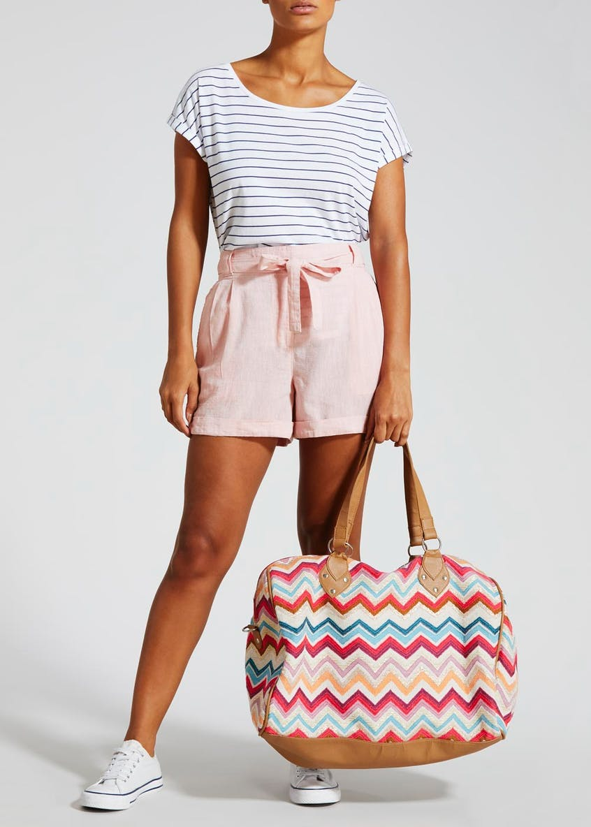 Embellished Zig Zag Weekend Bag