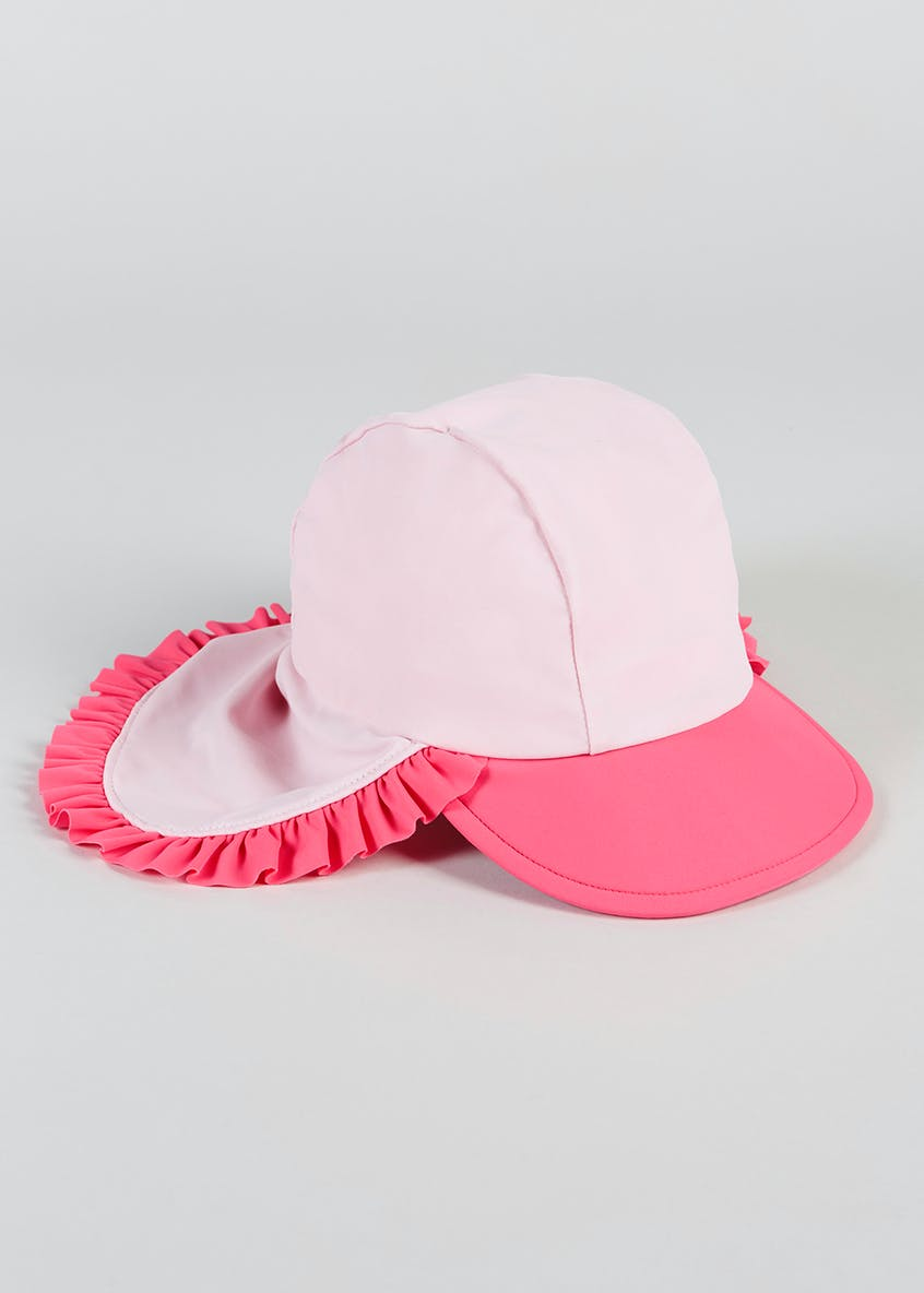 Girls Star Frill Keppi Sun Hat (6mths-4yrs)