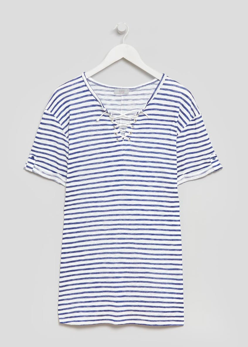 Papaya Curve Lace Up T-Shirt