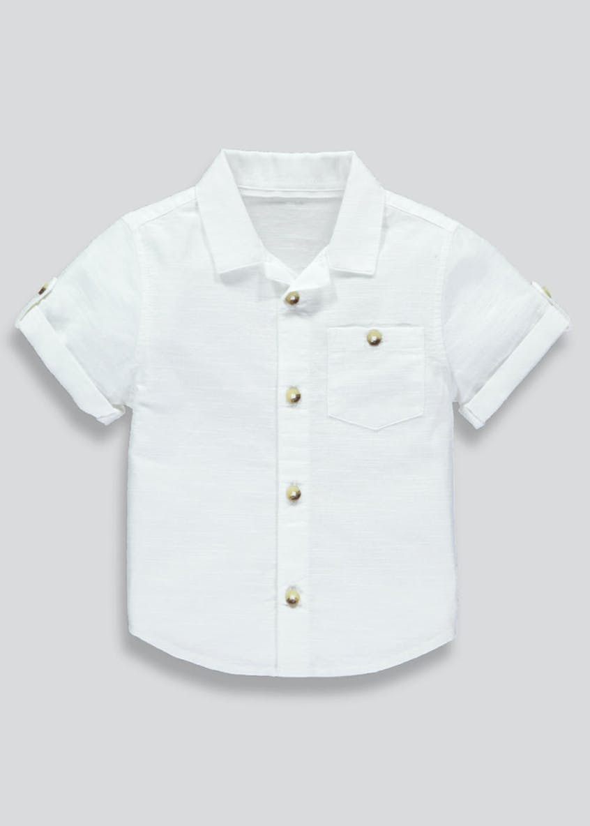 Boys Reverse Short Sleeve Shirt (3mths-6yrs)