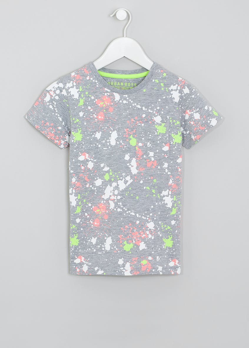 Boys Paint Splatter T-Shirt (4-13yrs)
