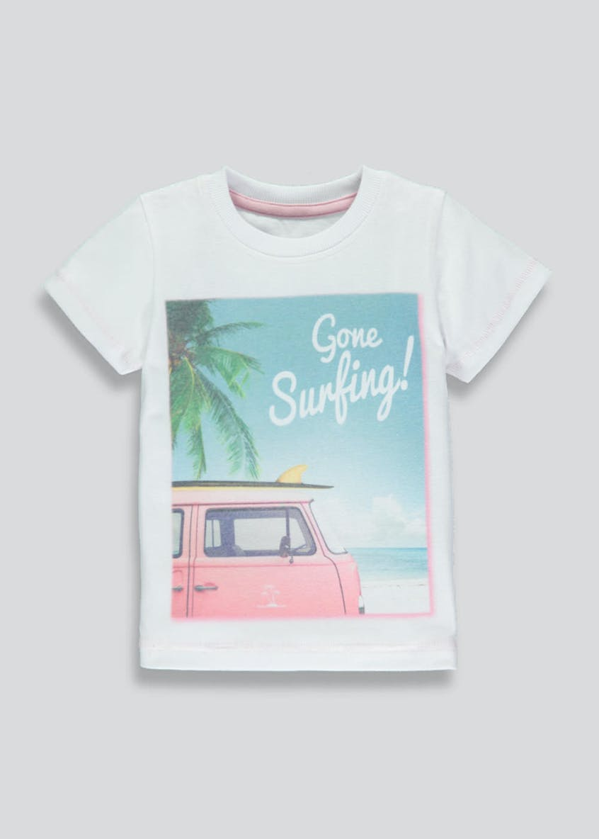 Boys Surfing Slogan T-Shirt (9mths-6yrs)