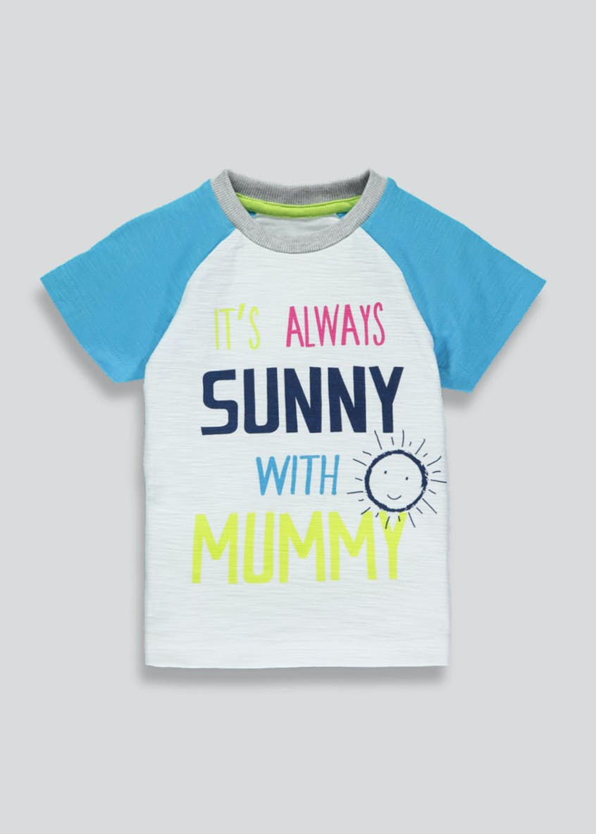 Boys Mummy Slogan T-Shirt (3mths-6yrs)