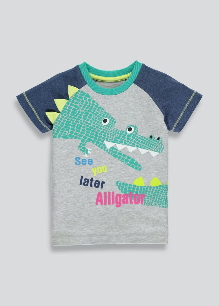 Boys Alligator Print T-Shirt (3mths-6yrs)