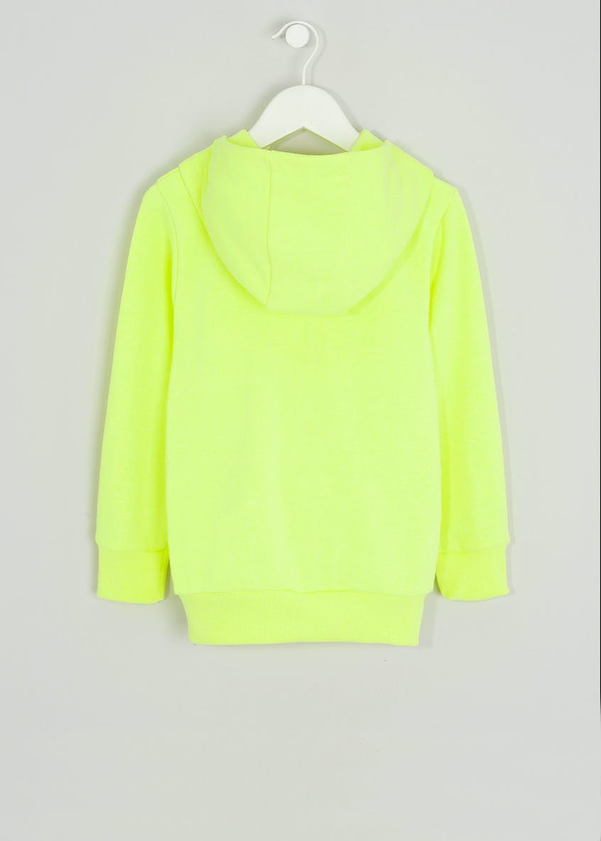 Boys Neon Zip Through Hoodie (4-13yrs)