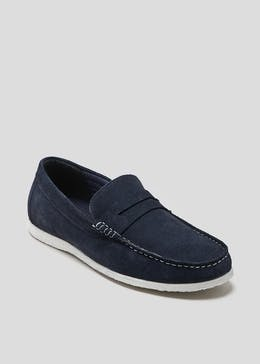Real Suede Saddle Loafer
