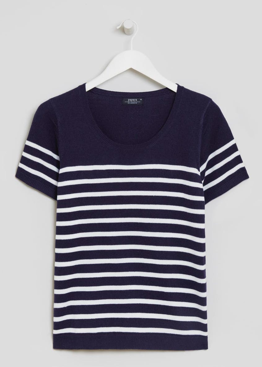 Stripe Short Sleeve Jumper
