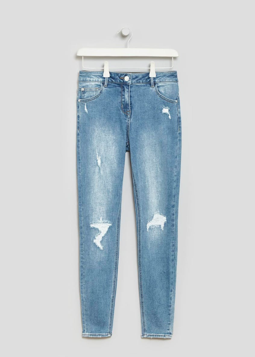 April Super Skinny Rip & Repair Jeans