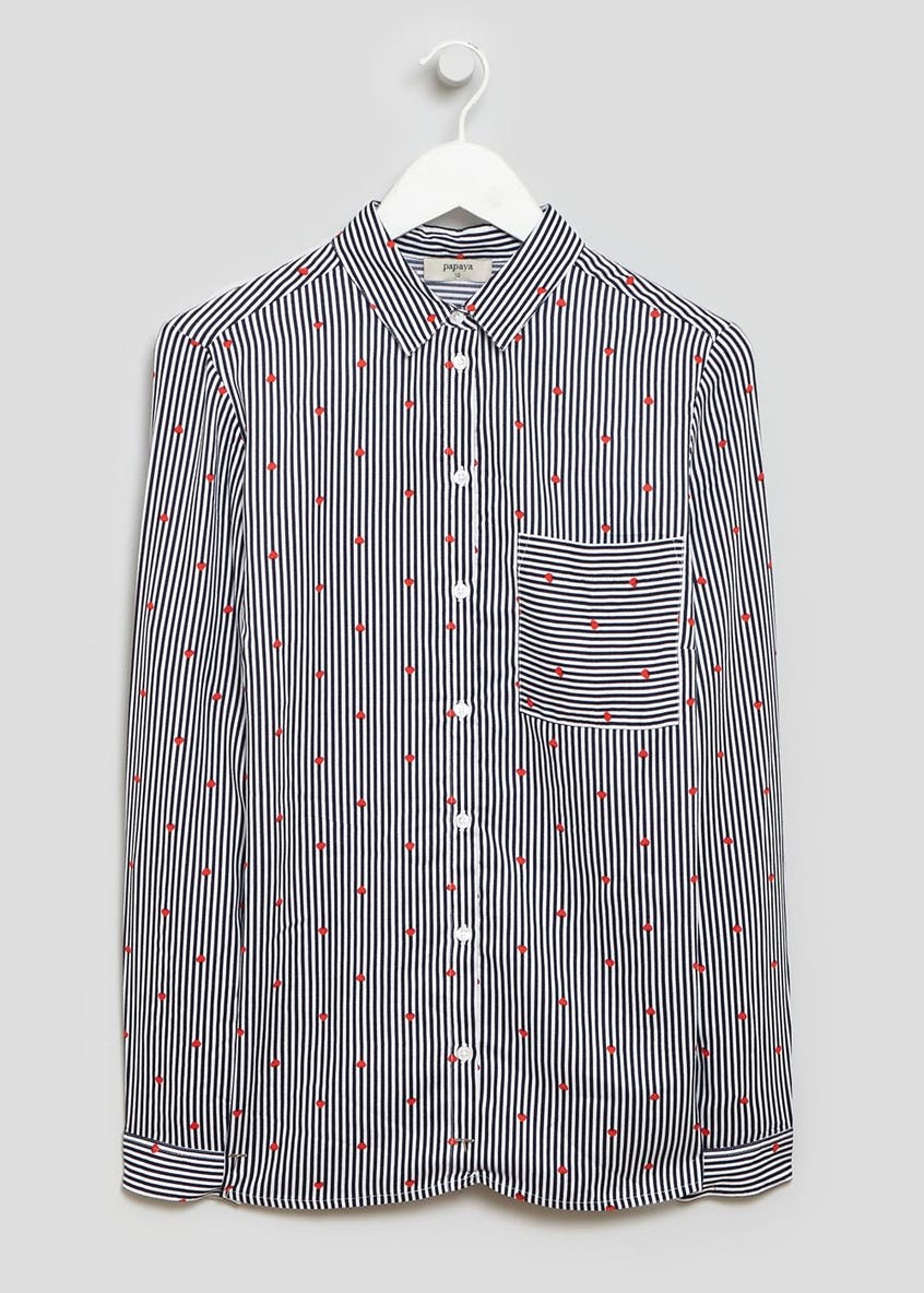 Heart Stripe Casual Shirt