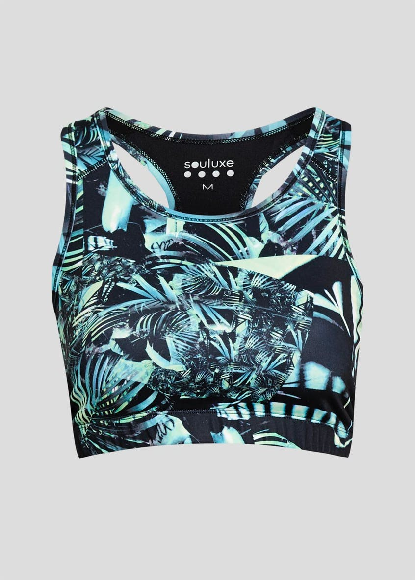 Souluxe Palm Print Gym Crop Top