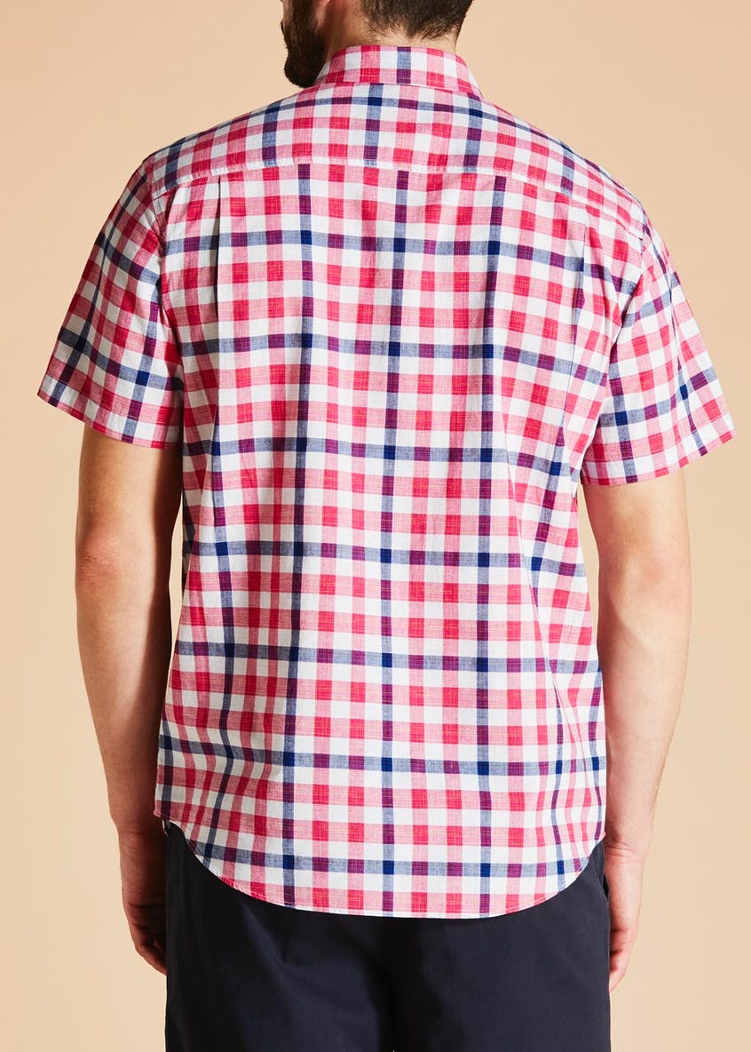 Lincoln Short Sleeve Space Dye Check Shirt