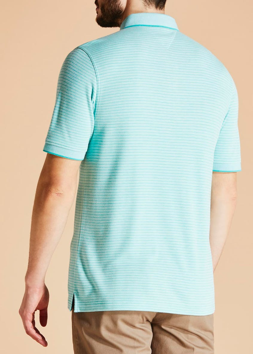 Lincoln Pindot Stripe Polo Shirt