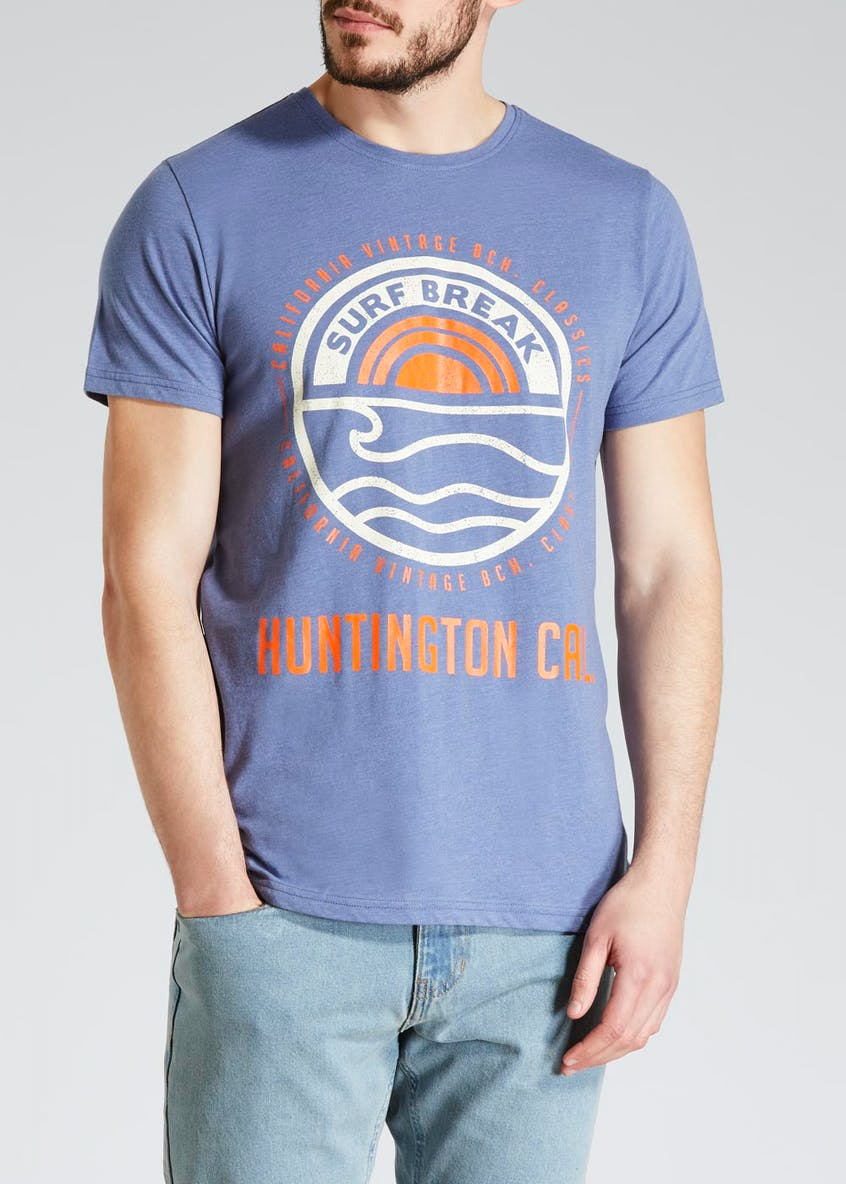 Surf Break Print T-Shirt
