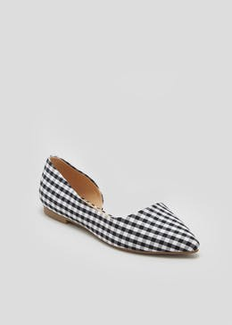 Gingham Pointed Ballet Pumps