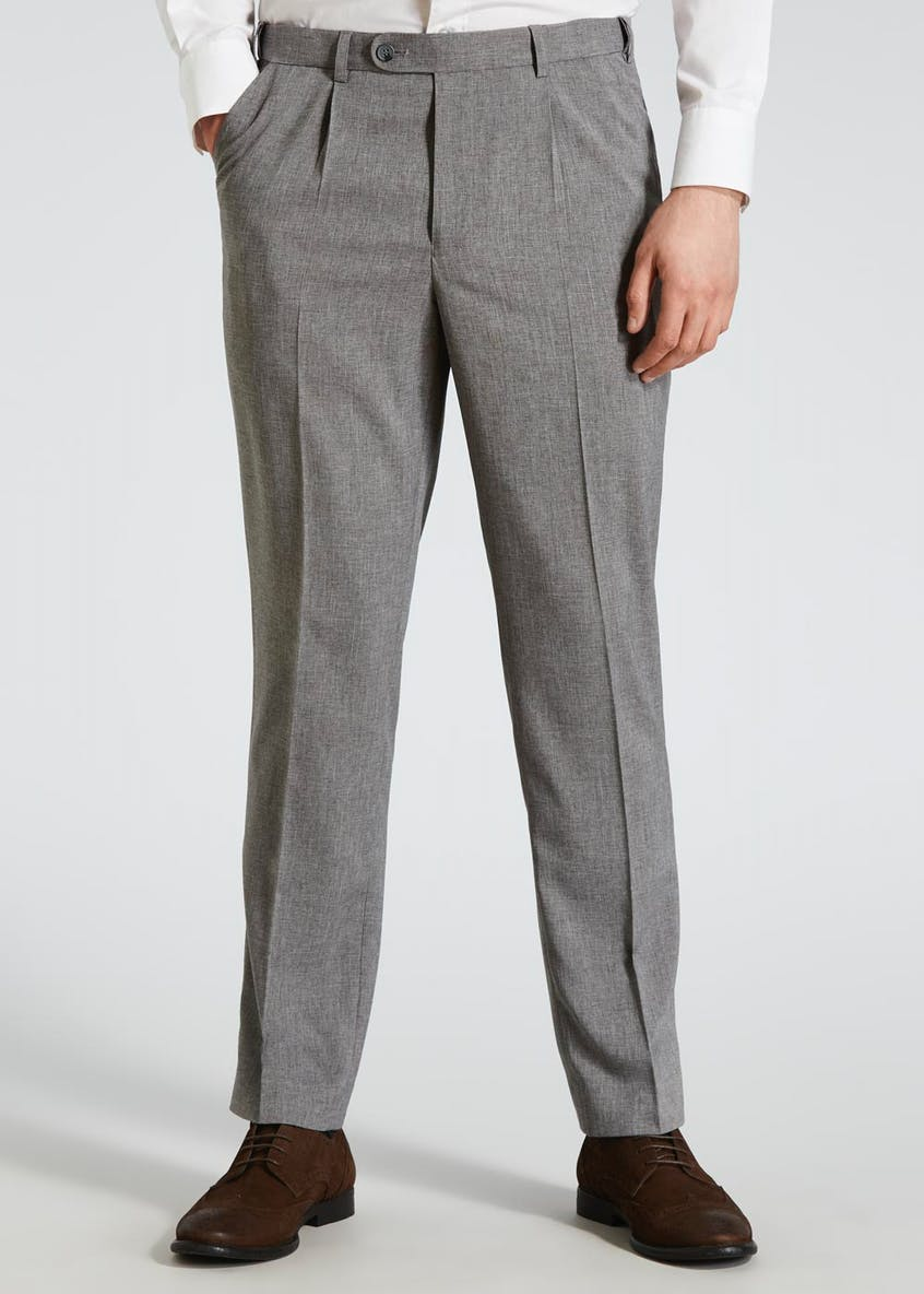 Textured Flexi Waist Trousers