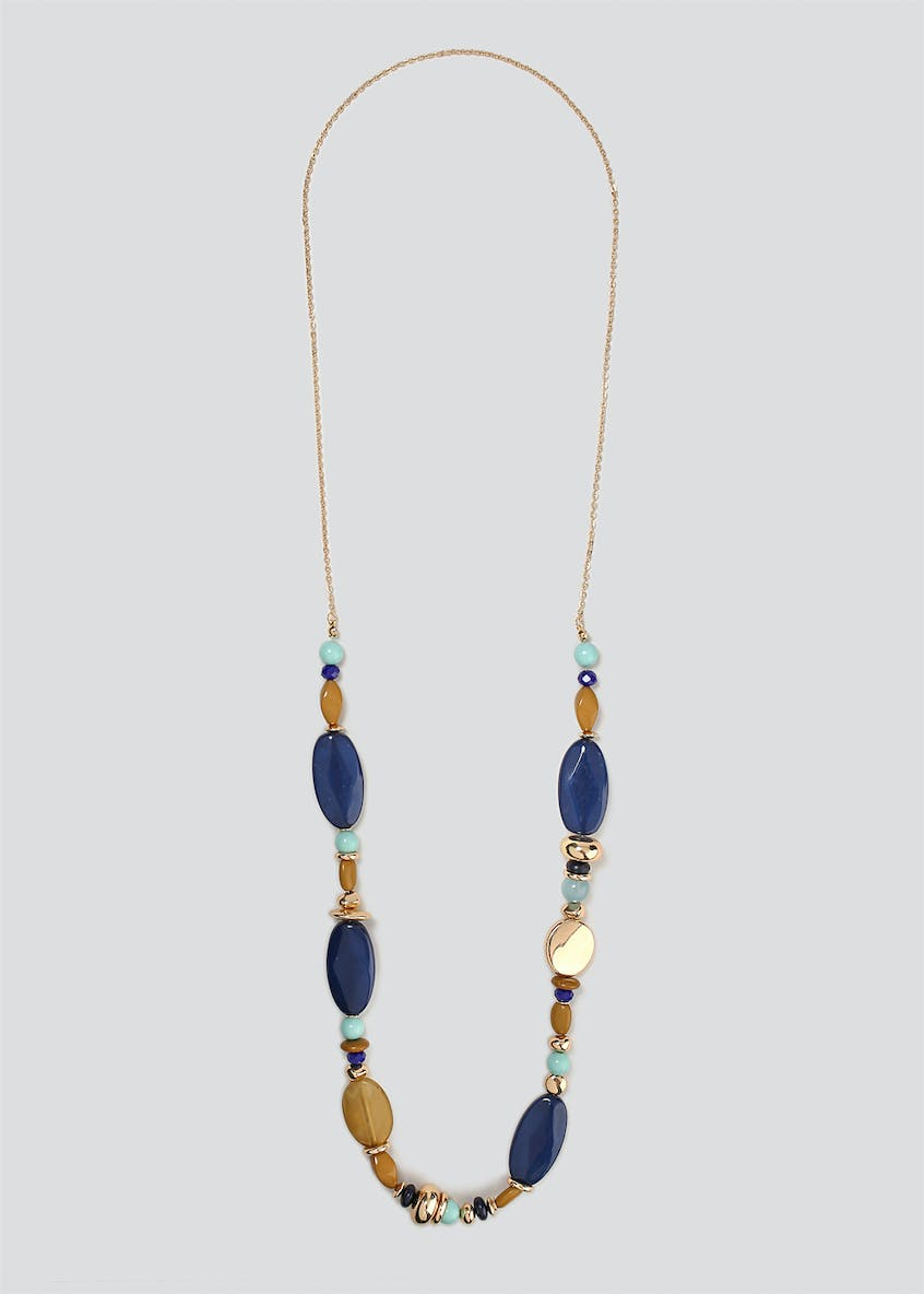 Mix Bead Long Necklace